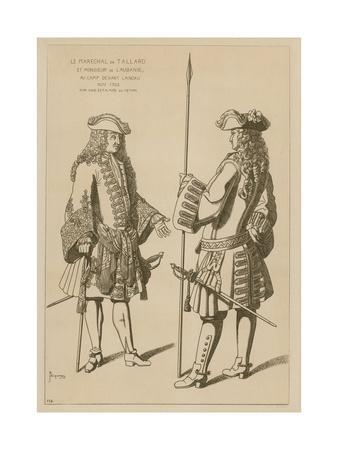 Marshal of Tallard and Mr Laubanie at Camp before the Battle of Landau, November 1703
