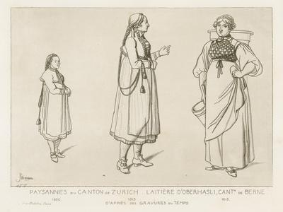 Peasants from the Canton of Zurich and Dairywoman from Oberhasli in the Canton of Berne