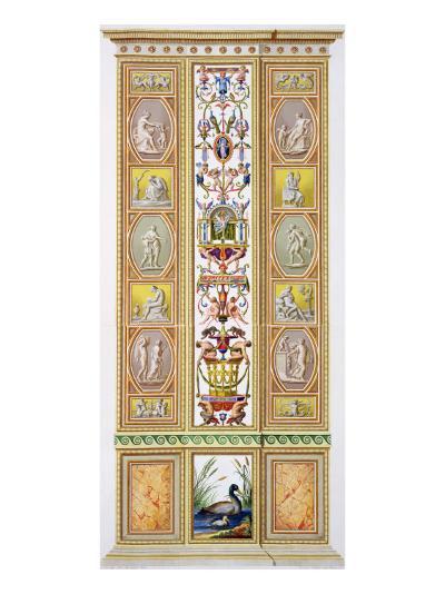 Raphael Loggia at the Vatican, 'Delle Loggie Di Rafaele Nel Vaticano', Engraved Giovanni Volpato-Ludovicus Tesio Taurinensis-Giclee Print