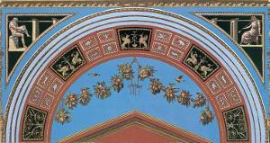 Loggia in the Vatican III (detail) by Raphael