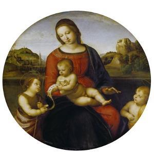 Mary and the Infant Christ and John the Baptist (Madonna Terranuova), about 1505 by Raphael