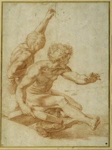 Nude Studies for St. Andrew and Another Apostle in 'The Transfiguration' by Raphael