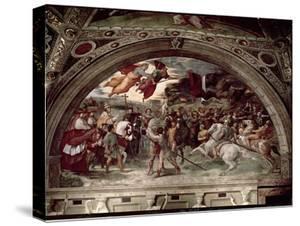 Pope Leo I (C.390-461) Repulsing Attila (C.406-453) 1511-14 by Raphael