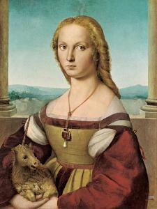 Portrait of a Young Lady with a Unicorn, 1505-1506 by Raphael