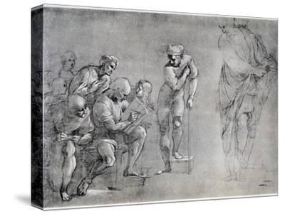 Pythagoras (580-500 B), Drawing for the 'School of Athens, 16th Century
