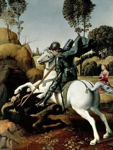 Saint George and the Dragon, 1504-1506 by Raphael