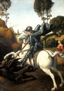 Saint George and the Dragon, C1506 by Raphael