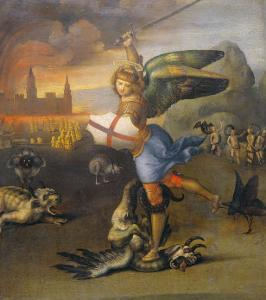 Saint Michael and the Dragon by Raphael