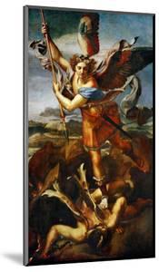 Saint Michael Slaying the Demon, 1518 by Raphael