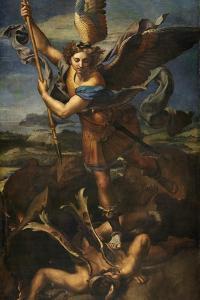 Saint Michael Vanquishing Satan, 1518 by Raphael