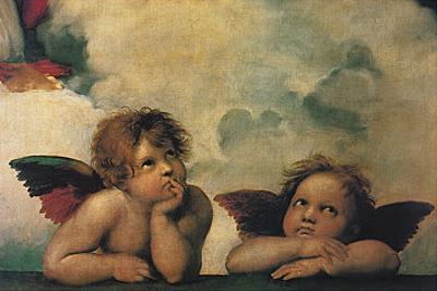 Santi Sixtinische Madonna Detail