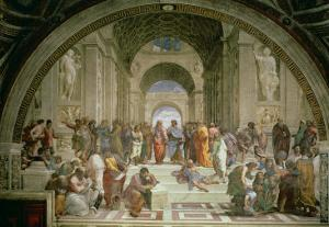 School of Athens, from the Stanza della Segnatura, 1510-11 by Raphael