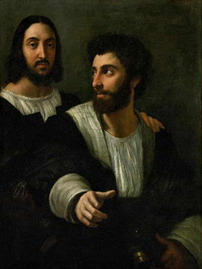 Raphael (Self-Portrait) and His Fencing Master-Raphael-Giclee Print