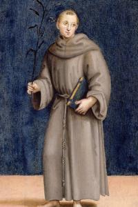 St. Anthony of Padua, Panel from the Predella of the Colonna Altarpiece, C.1502 by Raphael