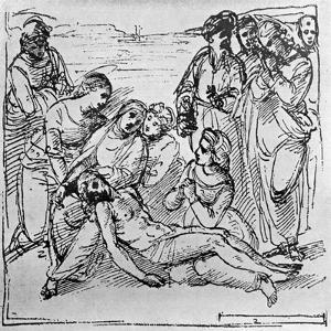 Study for the Entombment, 1913 by Raphael