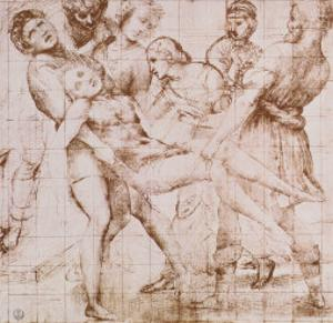 "Study for the ""Entombment"" in the Galleria Borghese, Rome by Raphael"