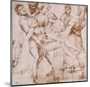 """Study for the """"Entombment"""" in the Galleria Borghese, Rome by Raphael"""