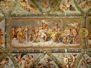 The Banquet of the Gods, Ceiling Painting of the Courtship and Marriage of Cupid and Psyche by Raphael