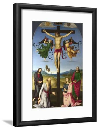 The Crucified Christ with the Virgin Mary, Saints and Angels (The Mond Crucifixio), 1502-1503