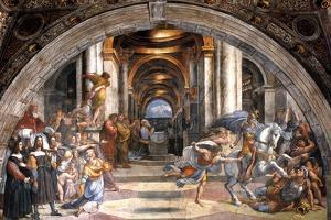 The Expulsion of Heliodorus, 1511-1512 by Raphael
