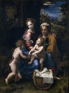 The Holy Family with John the Baptist and Saint Elizabeth (La Perl) by Raphael
