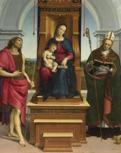The Madonna and Child with Saint John the Baptist and Saint Nicholas of Bari, 1505 by Raphael