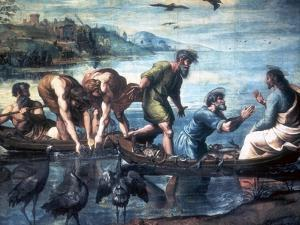 The Miraculous Draught of Fishes, 1515 by Raphael