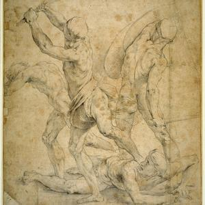 The Panel Beneath the Statue of Apollo in 'The School of Athen's', after a Drawing by Raphael by Raphael