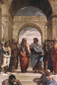 The School of Athens, Detail of Plato and Aristotle, 1508-1511 by Raphael