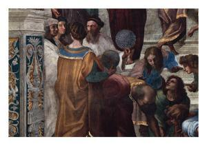 The School of Athens, Detail by Raphael