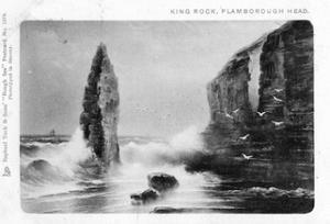King Rock, Flamborough Head, East Riding, Yorkshire, 1903 by Raphael Tuck