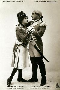 Evie Greene and Denis O'Sullivan in a Scene from the Duchess of Dantzig, Early 20th Century by Raphael Tuck & Sons