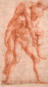 Young Man Carrying An Old Man on His Back (Aeneas And Anchises) by Raphael
