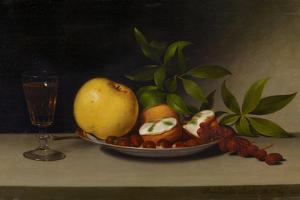 Still Life with Fruit, Cakes and Wine, 1821 by Raphaelle Peale
