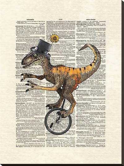 Raptor Unicycle-Matt Dinniman-Stretched Canvas Print