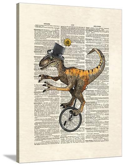 Raptor Unicycle-Matt Dinniman-Stretched Canvas Print