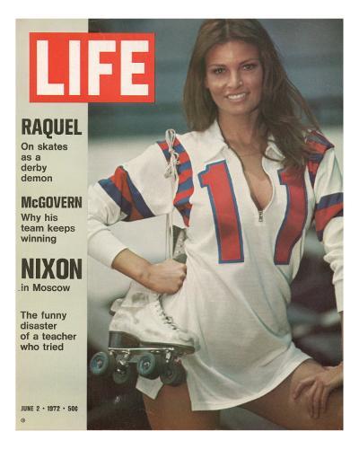 Raquel Welch in Roller Derby Uniform, June 2, 1972-Bill Eppridge-Photographic Print