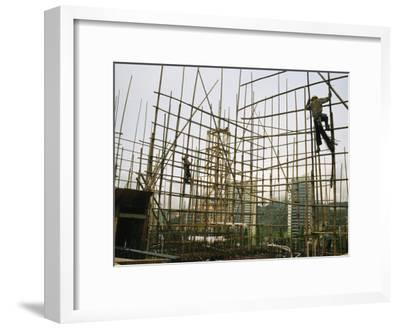 decorative gate in bamboo fence stock image image of.htm rare bamboo scaffolding used in hong kongs housing construction  hong kongs housing construction