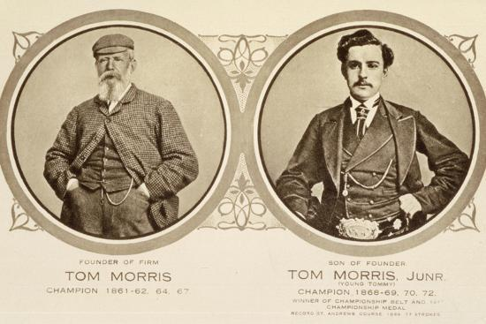 Rare postcard showing Tom Morris and Tom Morris Junior, c1905-Unknown-Photographic Print