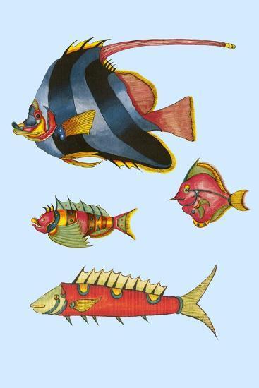Rarest Curiosities of the Fish of the Indies-Louis Renard-Art Print