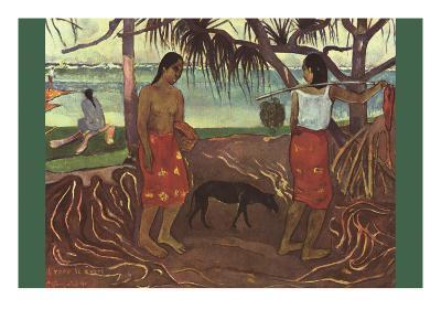Raro Te Ouiri-Paul Gauguin-Art Print