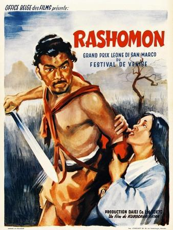 Rashomon, Japanese Movie Poster