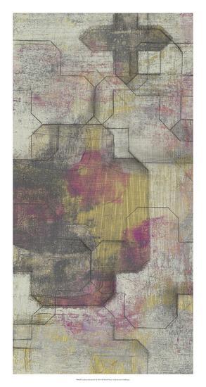 Raspberry Quatrefoil I-Jennifer Goldberger-Premium Giclee Print
