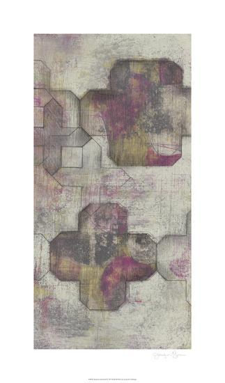 Raspberry Quatrefoil II-Jennifer Goldberger-Limited Edition
