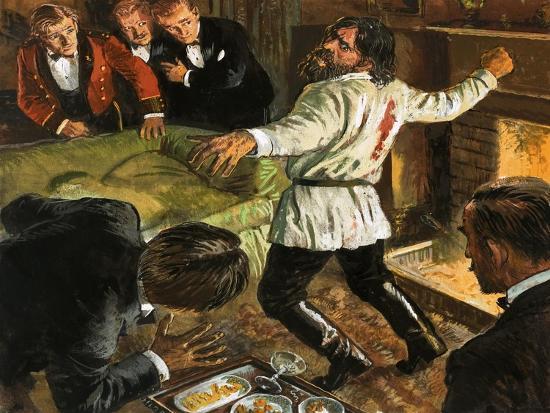 Rasputin Shot in the Back-Clive Uptton-Giclee Print