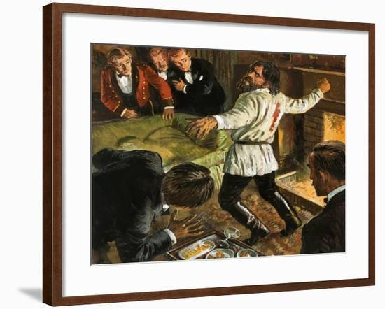 Rasputin Shot in the Back-Clive Uptton-Framed Giclee Print