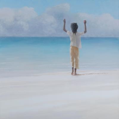 Rasta on Beach, 2012-Lincoln Seligman-Giclee Print