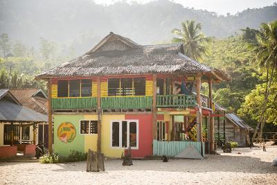 Rasta (Rastafarian) Coloured Beachfront Accommodation at Sungai Pinang, Indonesia-Matthew Williams-Ellis-Photographic Print