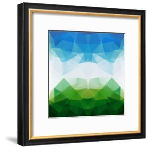 Colorful Mosaic Triangle Background by Rasveta