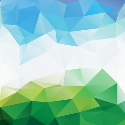 Colorful Mosaic Triangle Background